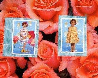 Flower fairies. Collage print.