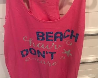 Beach Hair Dont Care boxercraft racer back swim suit cover