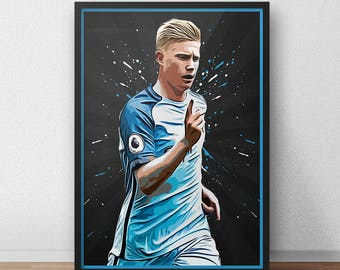 Kevin De Bruyne - Manchester City - Manchester City poster - Manchester City print - Soccer poster - Soccer gifts - Football gifts
