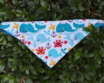 Whale of a tale dog bandana