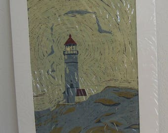Lighthouse - artwork by Anne Sunderwirth