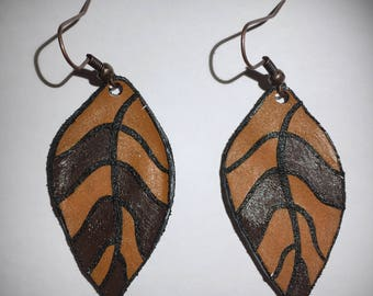 Autumn leaf Earrings/Earbobs autumn leaves