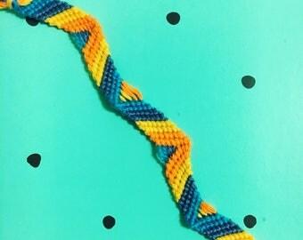 Sun & Sky Zig Zag Friendship Bracelet
