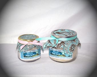 16 oz Organic Mint Sugar Scrub - Comfort for Headaches & Stomach Disorders, Exfoliating, Improves Skin Tone and Complexion