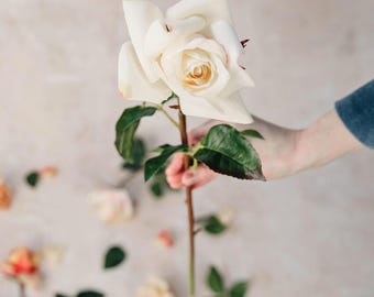 White Artificial Rose