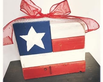Patriotic Wood Blocks