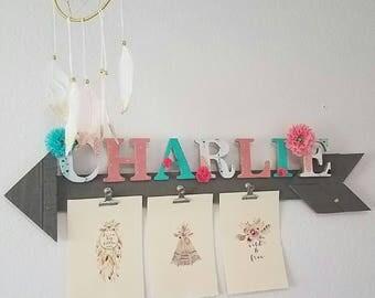 Custom Wood Letters, Nursery for Girl, Child Bedroom
