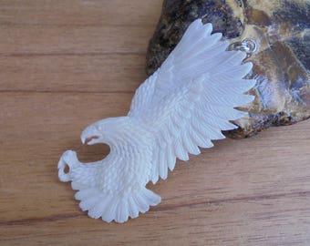 Flying Eagle Bone Pendant, Eagle Bone Carving Jewelry EG02