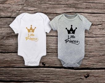 Little Princess Onesie, 1 bodysuit, Father's Day Gift, Princess Onesie, Baby Girl Onesie, Newborn Girl Onesie, New Arrival, Hospital Outfit.