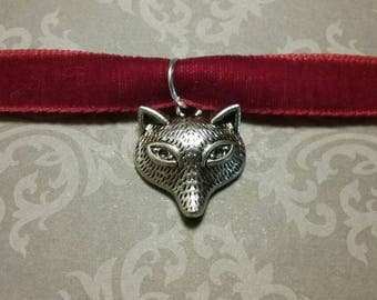 Red Velvet Fox Choker