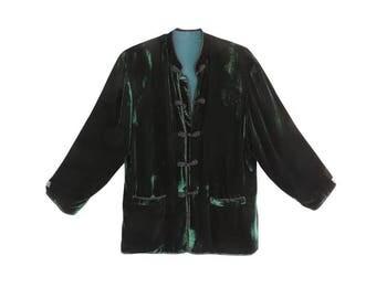A velvet jacket and short
