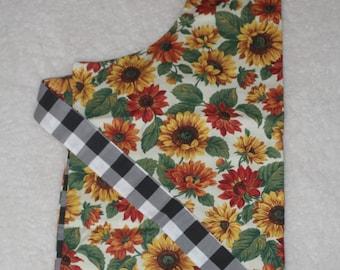 Reversible Sunflowers Apron