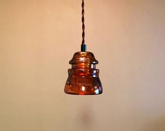 diy glass insulator pendant light kit diy insulator lighting. Black Bedroom Furniture Sets. Home Design Ideas