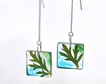 Absinthe wormwood resin earrings