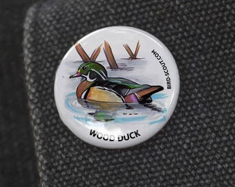 Wood Duck Birding Pin