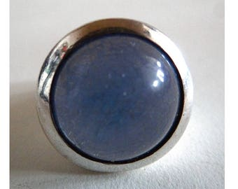 Vintage Sterling Silver & Blue Stone Ring. Vintage silver ring and Pierre Blleue. Vintage jewelry. Gift for her.