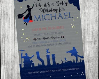Mary Poppins Boy Invitation
