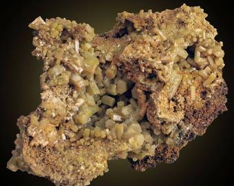 Pyromorphite; Wheatley Mine, Phoenixville, Pennsylvania, USA  --- minerals and crystals