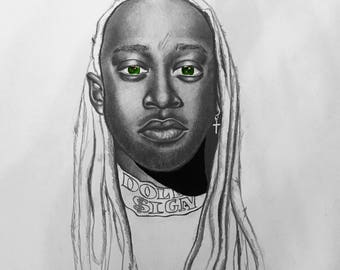 Ty Dollar Sign drawing portrait