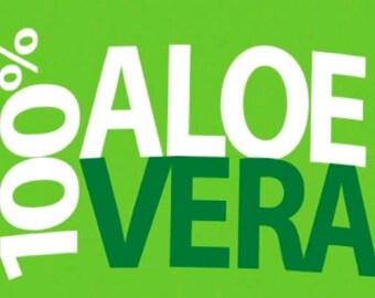 Φρέσκος χυμός 100% Aloe Vera βιολογικής καλλιέργειας  από την Κώ & την Ζάκυνθο 1000ml, Χωρίς ζάχαρη, Χωρίς συντηρητικά