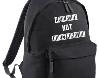 Education not Indoctrination Embroidered Backpack