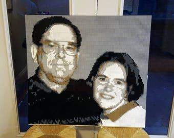 Custom Lego® mosaic portraits