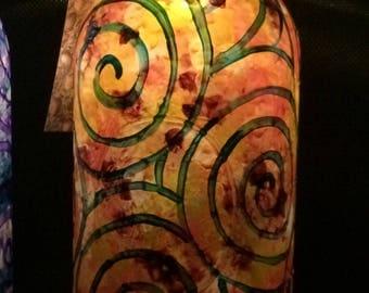 Hand painted solar jar