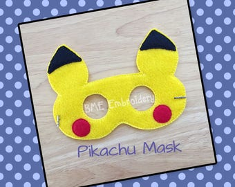 Pikachu Inspired Mask- Pokemon-Dress Up/Imaginary Play- Birthday Party Favor-Theme Parties-Halloween Costume/ Mask-Photo Prop-Pokemon Party