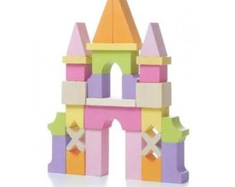 Wooden Toy Castle LZ-1