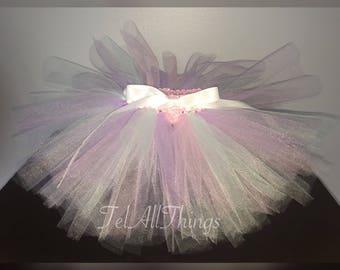 Pink, Purple, & White Tutu Custom made tutu newborn 0-3 months 3-6 months 6-9 months 9-12 months 12-18 months 18-24 months 3-5 years