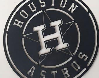 Houston Texas, Houston Rockets, Houston Astros Metal Sign