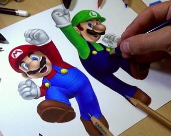 Mario and Luigi Drawing