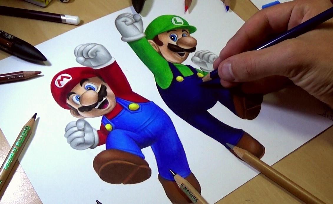 Mario et luigi dessin - Dessin de mario et luigi ...