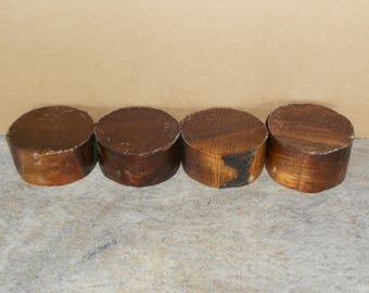 Black Walnut 4 pc, 4 x 2  turning wood bowl, saucer blanks  7712