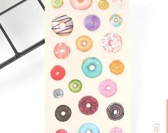 Sweet Donut Sticker Sheet/ Donut Stickers/ Scrapbooking/ Planner/ Decoration m/ Journal Sticker