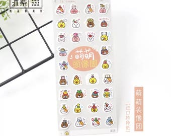 Cute Emoji Stickers, Scrapbooking, Planner, Journal, Diary Sticker