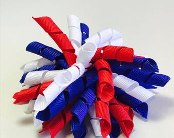 4th of July Korker Hairbow