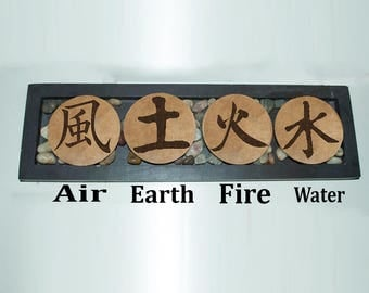 Resultado de imagen para agua tierra aire y fuego kanji