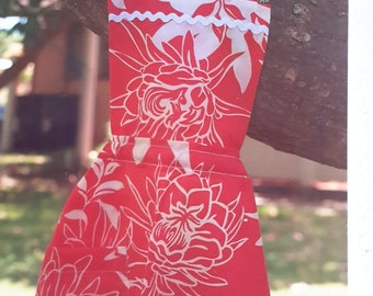 Children's Apron with Hawaiian Floral Print