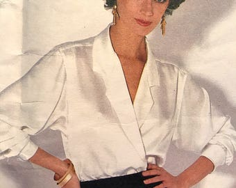 Beautiful Blouse Pattern With Variations by Calvin Klein---Vogue 1128---Size 14  Bust 36