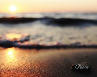 Zen Office Decor - Ocean Sunset Computer Wallpaper - Beach Sunset Art