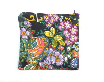 Pouch of Grouch 01: Zip Pouch With Patterned Lining (18 x 17cm)