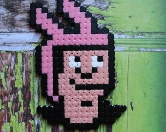 "Magnet ""Hama"" Bead Art - ""Louise"" Bob's Burgers inspired craft"