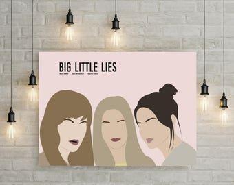 Big Little Lies Poster Print Illustration TV Series HBO Minimalist