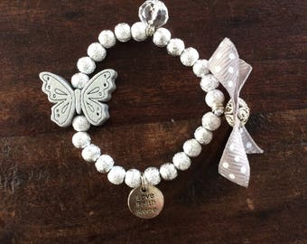 Bracelet Girl with butterfly and bow