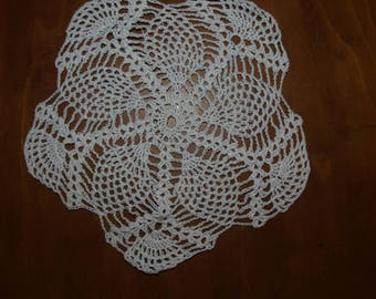 Crocheted Cotton Thread Doily