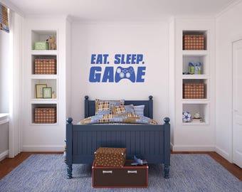 Eat Sleep Game/Gamers Wall Decal
