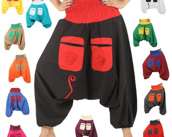 Spiral Alibaba Baggy Genie Harem pants Indian Gypsy Boho Hippie Yoga Trousers Many Hot Colors to choose