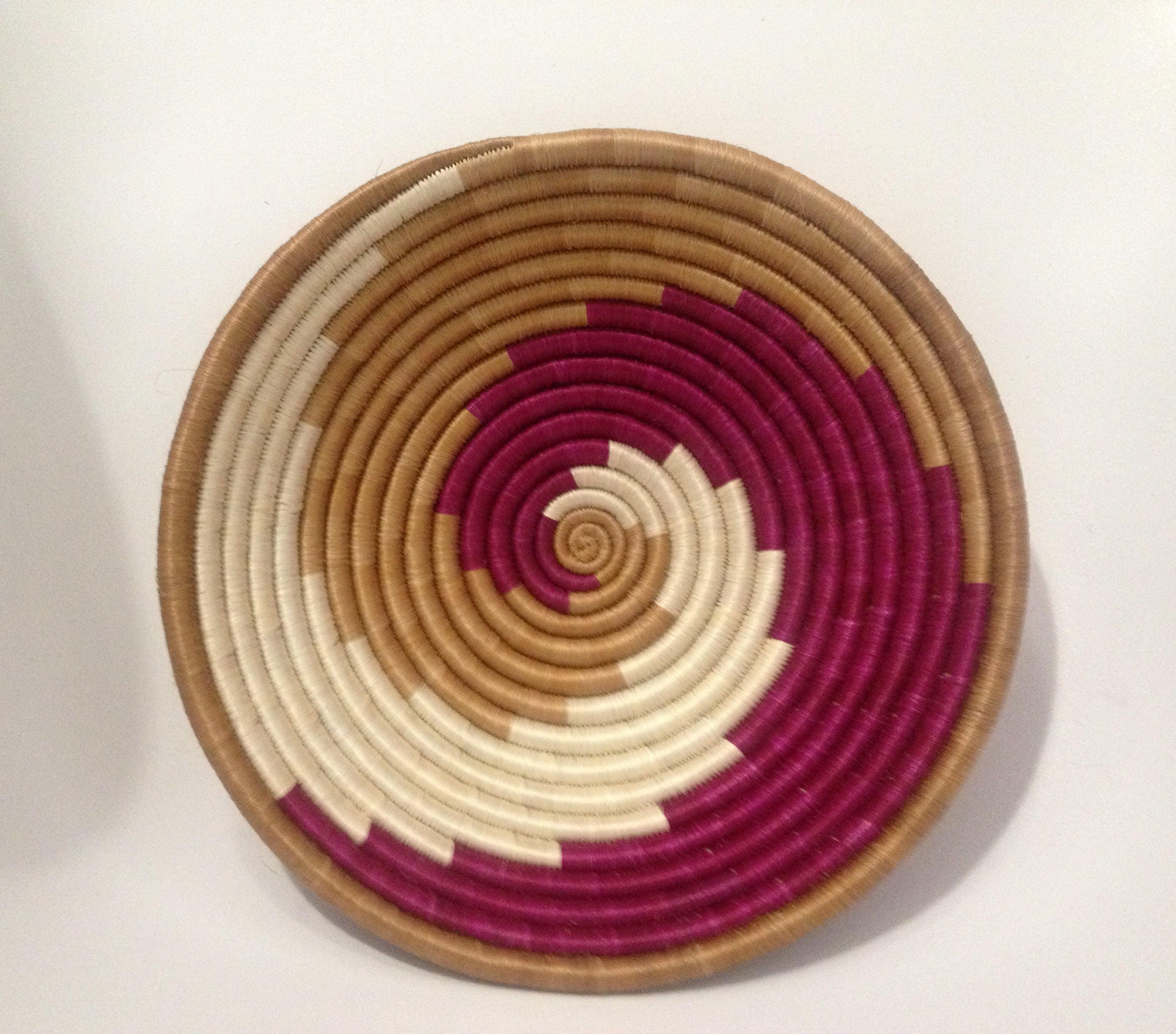 African Woven Baskets: African Woven Basket / / Ethnic Wall Basket / / Handcrafted