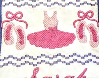 Lg Personalized Ballerina - Faux Smock Plate